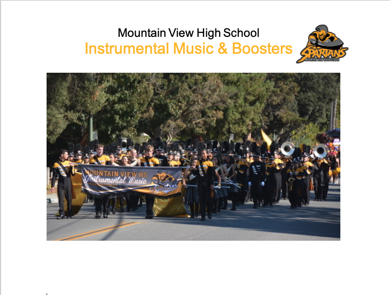MVHS Band Parading and Instrumental Music Logo