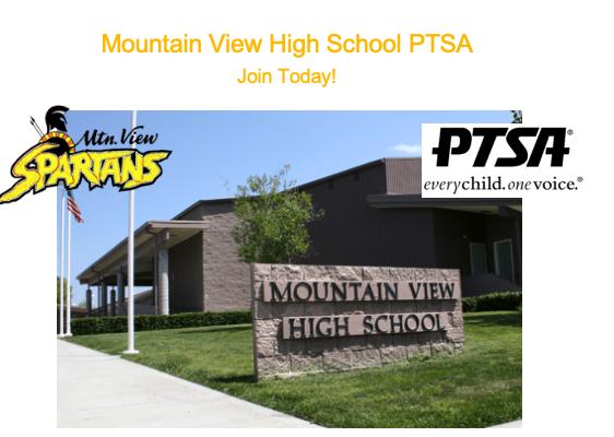 Mountain View High PTSA header